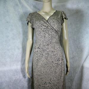 Max Studio Black & Tan Dress. NWT. S
